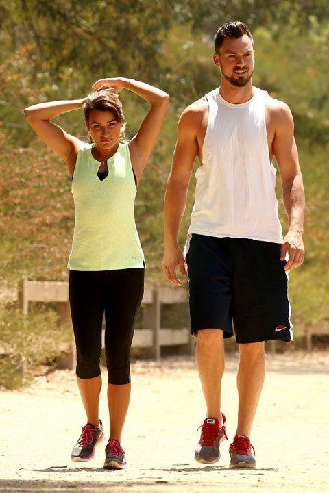 Lea Michele muestra su nuevo romance en público