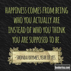 "What happens when you say yes to everything that scares you for a whole year? Read more about ""The Year of Yes"" by Shonda Rhymes on bookerina.com"