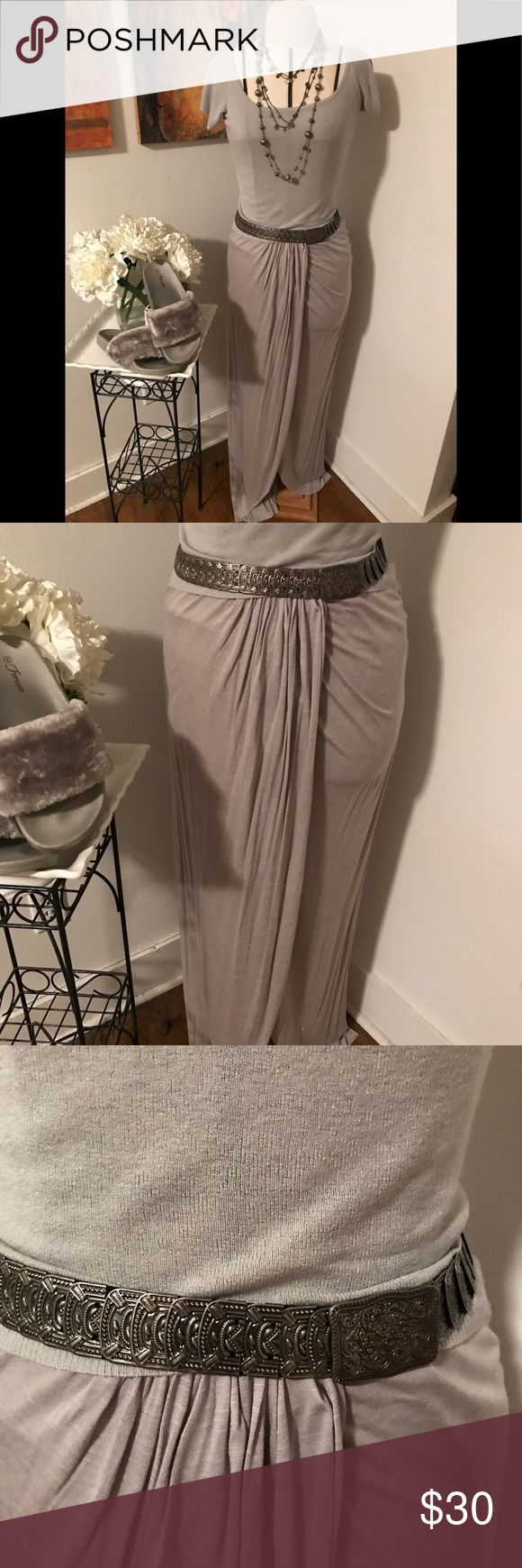 PHILOSOPHY grey sarong skirt PHILOSOPHY grey faux wrap sarong skirt. Pull on skirt with elastic waist .. Philosophy Skirts