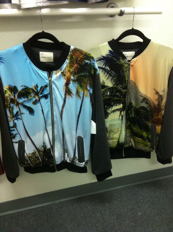 Sublimated baseball jackets with landscape prints