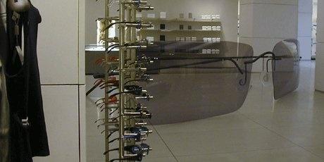 Sunglasses Armani Megastore Milan, 2001 | design Domenico Raimondi + arch. Luisella Italia | www.facebook.com/thesignlab
