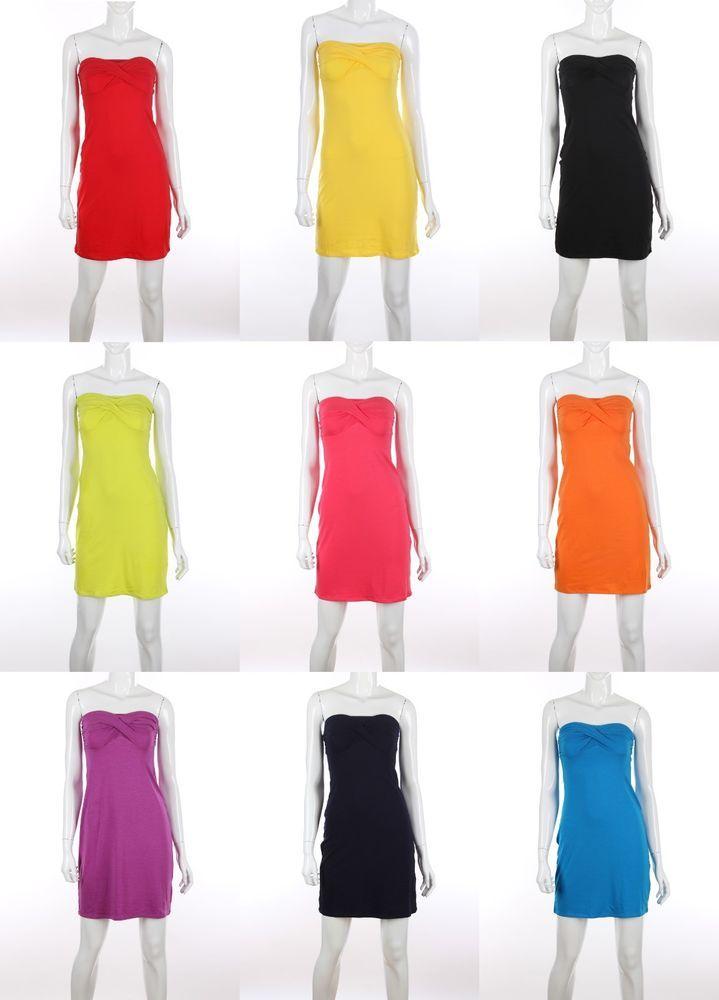 Victoria's Secret Strapless Bra Top Sexy платье Dress Party Cocktail XS S M L XL #ModaInternational #Shift #SummerBeach