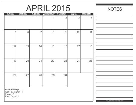 Check out April 2015 Calendar Excel, Doc, Printable Pdf, Word, Template, Images. Download 2015 April Calendar With Holidays UK, USA, Canada, Philippians.