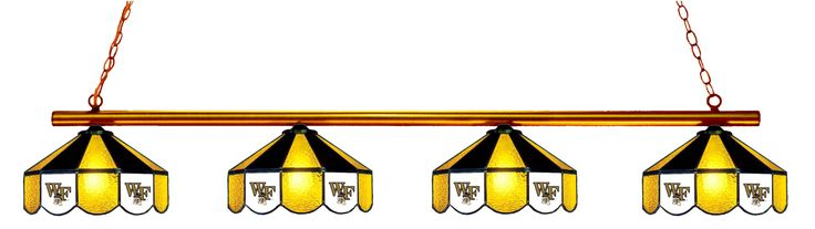 Wake Forest Demon Deacons Stained Glass 4-Light Pool Table Light