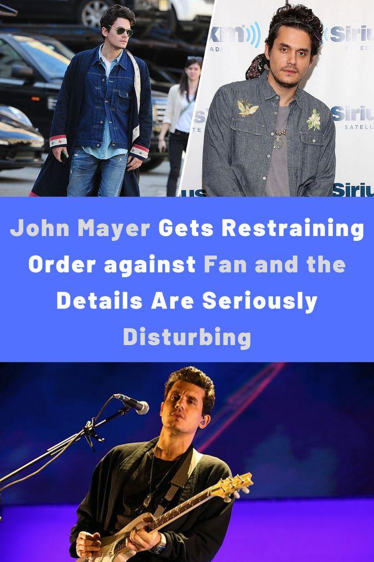John Mayer erhält einstweilige Verfügung gegen Fan und die Details sind ernsthaft störend