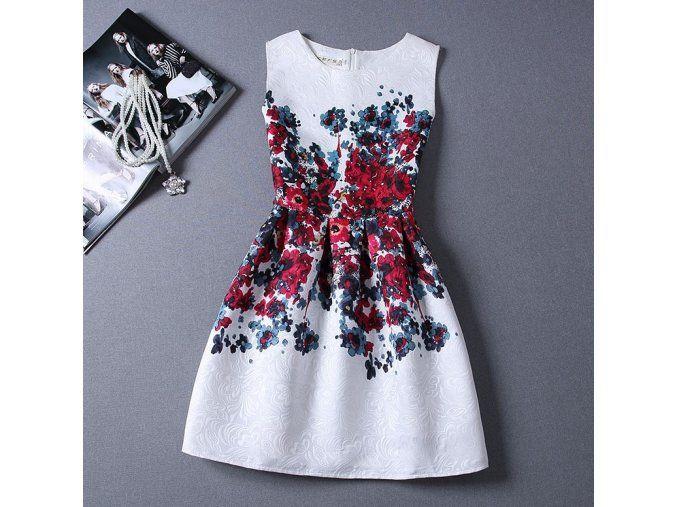 Dámské letní šaty vzor květiny + POŠTOVNÉ ZDARMA (Velikost S)