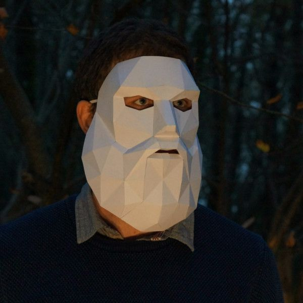 Low Poly Bearded Man Mask - Wintercroft. build your own from www.wintercroft.com