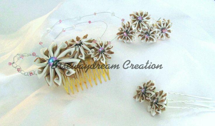 Kanzashi wedding hair accessories