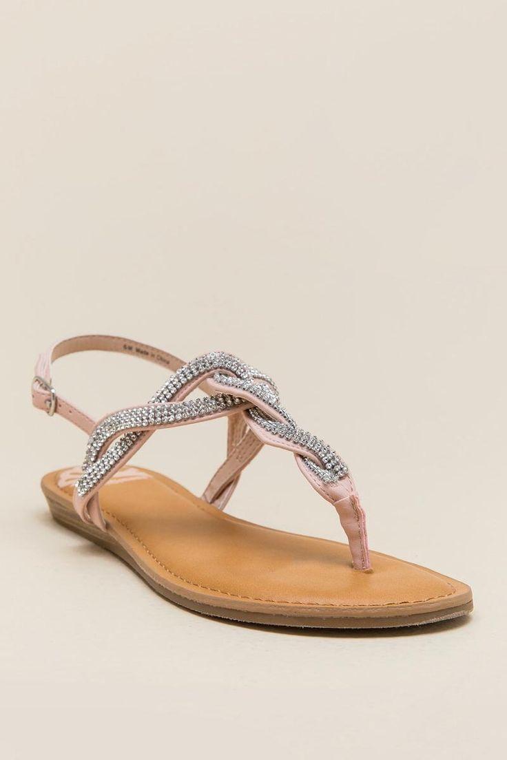 Fergalicious Shade Rhinestone T-Strap Sandal