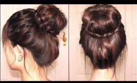 Braided Tips Sock Bun.. awesome website!