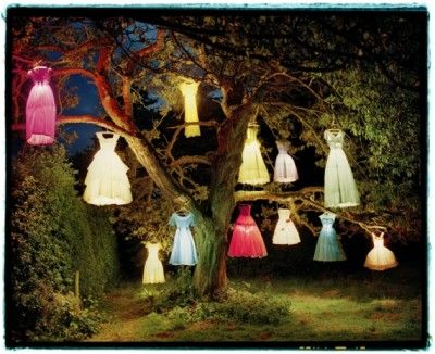 The stunning Dress Lamp Tree - wow cool...princess party?