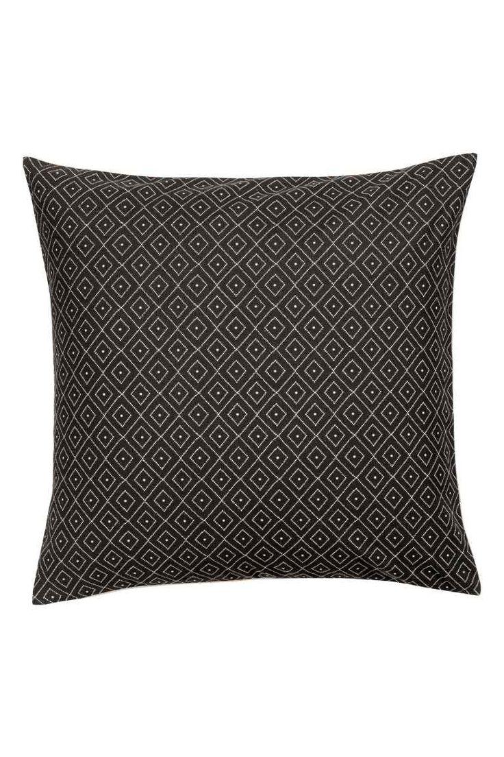 Funda de cojín lona de algodón - Gris antracita - HOME | H&M ES 1