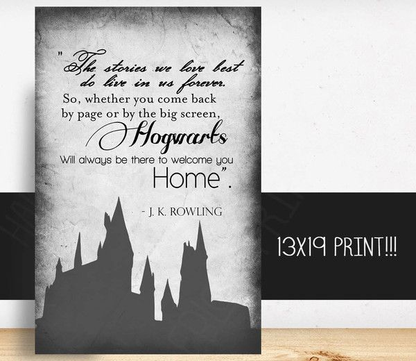 awesome wall art for any harry potter fan this listing is for one 13x19 inch