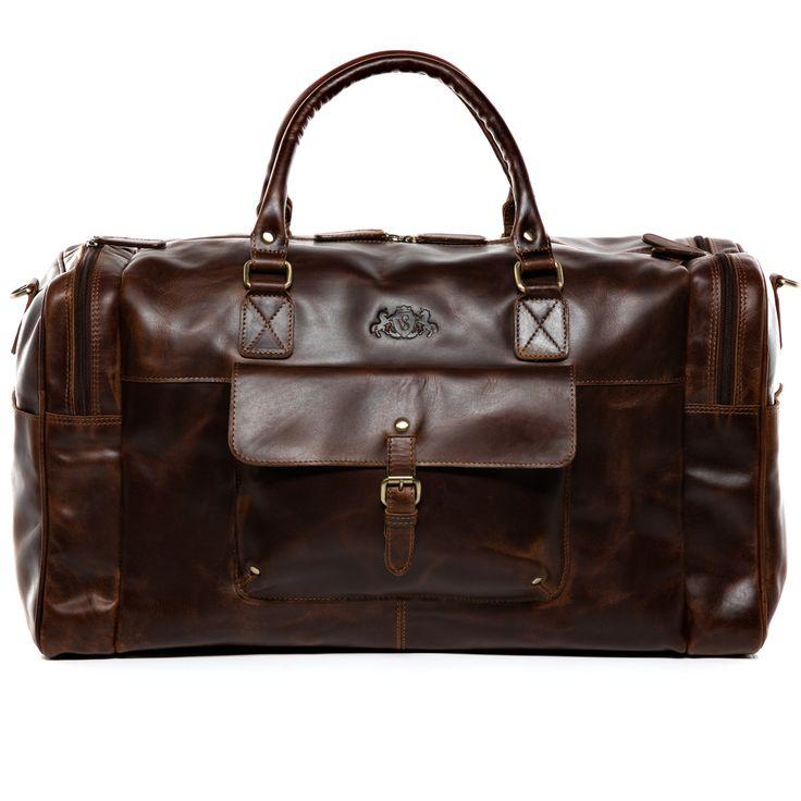 Scotch & Vain Reisetasche Yale - Leder Weekender braun-cognac: Ledertasche als Herrentasche aber auch als großer Weekender für Damen. Diese Lederreisetasche ist auch als Sporttasche beliebt da sie extra Fächer für die Schuhe an den Seiten bietet