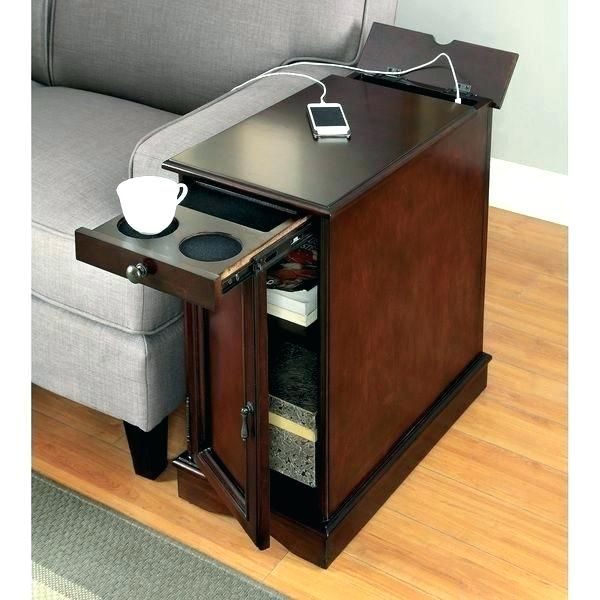 Black End Tables With Storage Small Table Drawer Best Narrow For