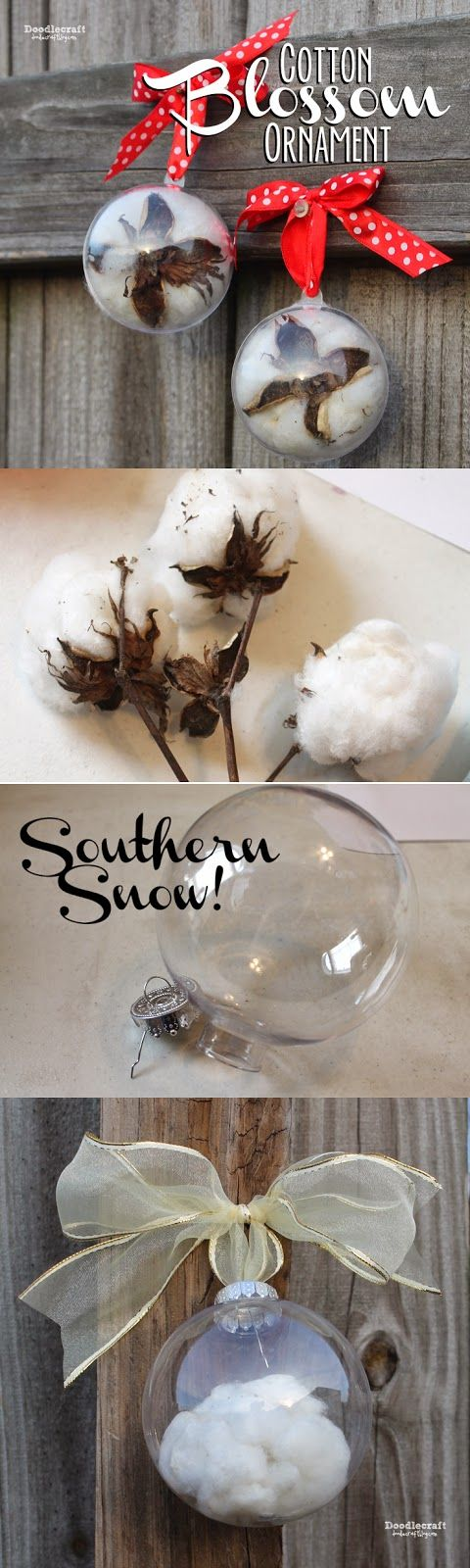 CHRISTMAS IN JULY: Cotton Blossom Ornament!