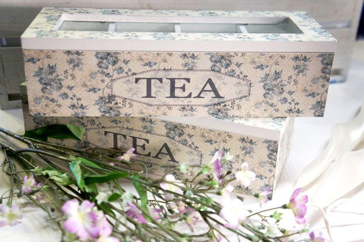 Cajas de té #shabbychic #tea
