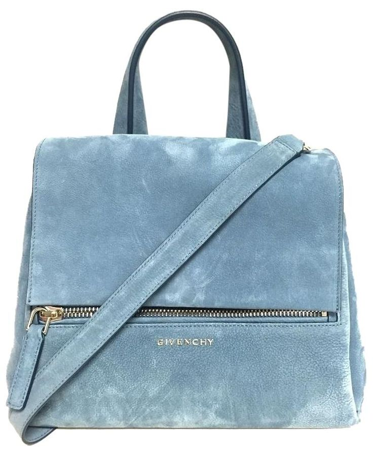 Givenchy Pandora Suede Handbag Blue Cross Body Bag. Get the trendiest Cross Body…