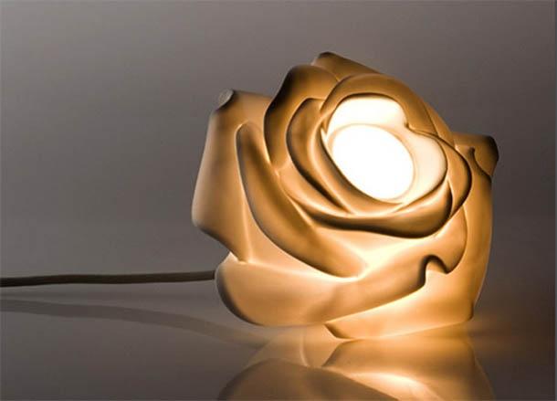 Beautiful Rose Flower Lamp Lighting Design by Lasvit | Classic Lamp Design