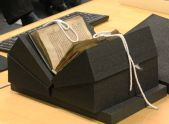 Book support cradle. Handling Rare Books | Corning Museum of Glass