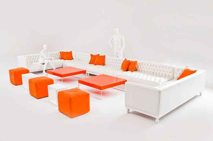 White and Orange Lounge Pod