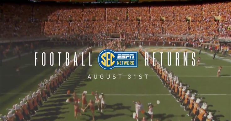 SEC football is coming.