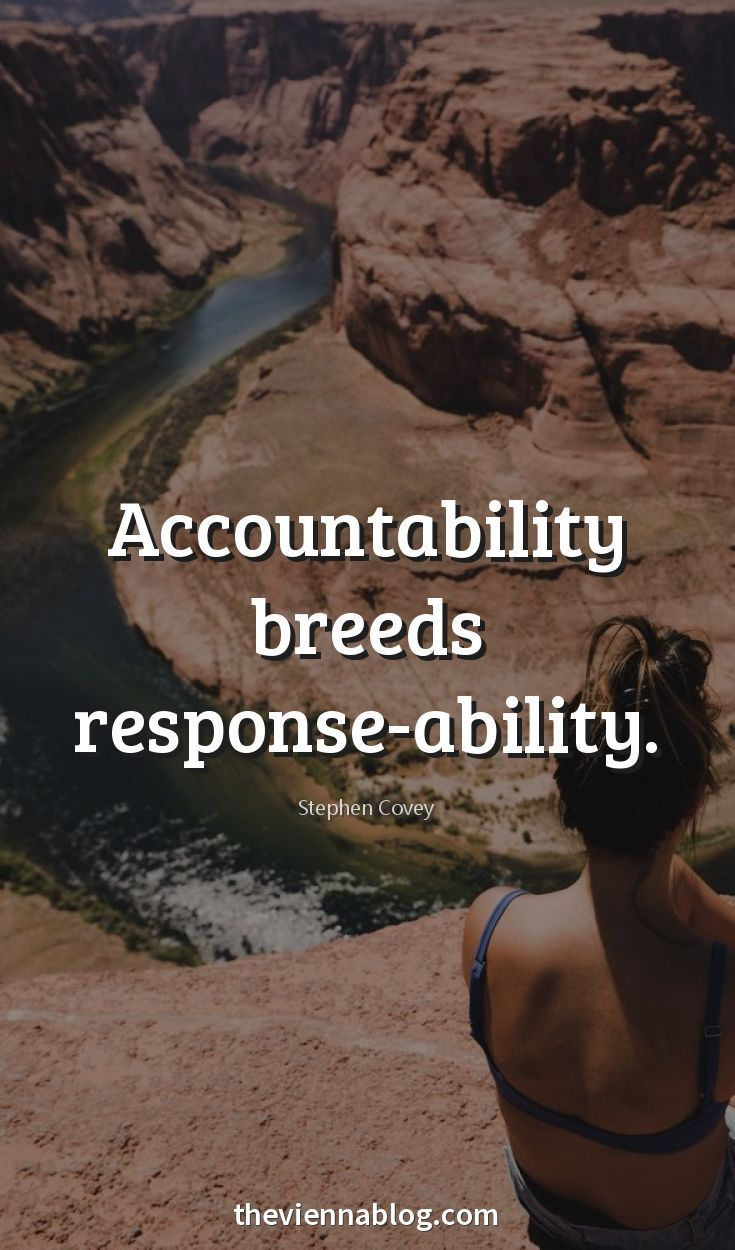 Take responsibility.  Let others play the blame game.