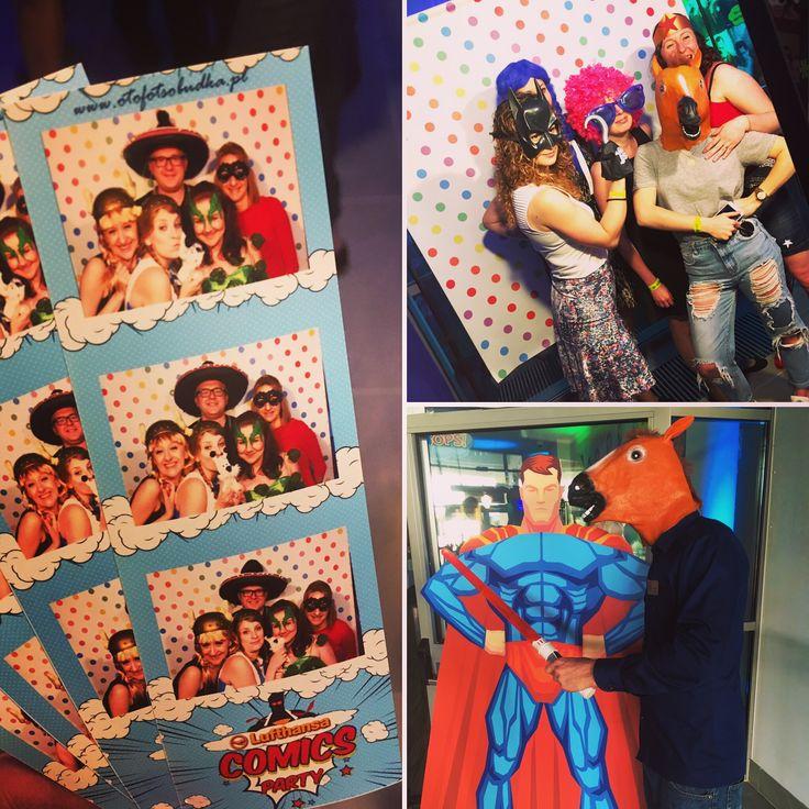 W piątek piąteczek piątunio #otofotobudka zabawia gości na #Comicsparty 🗯💭 firmy #Lufthansa 👌🎊🎈🎉 Jest #komicznie 😁!  #otofotobudka #fotobudka #fotobudkakrakow #krakow #corporateevents #party #imprezafirmowa #branding #komiks #comics