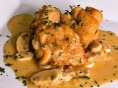 Recetas de cocina: Pollo al champiñón y cerveza   Recetas faciles, Videos de Cocina   SaborContinental.com