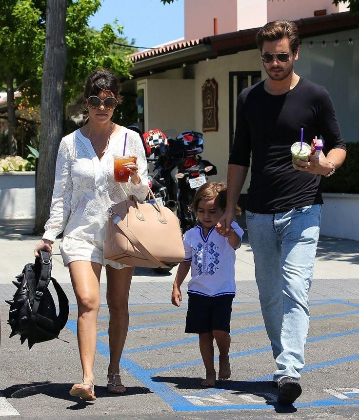Kourtney Kardashian, her husband Scott Disick and their son Mason Dash Disick.