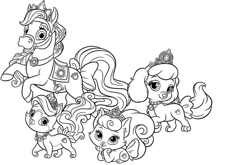 Раскраска Королевские Питомцы для детей распечатать ...