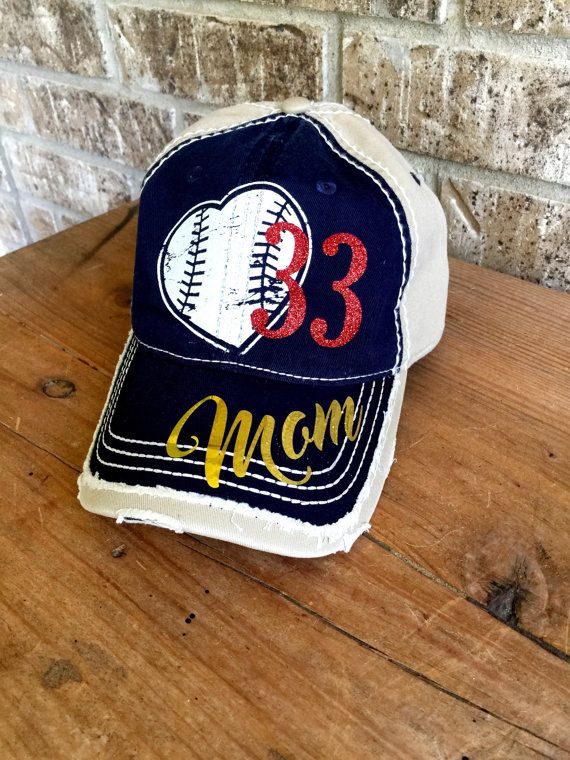 Customized Baseball Mom Cap Fun Baseball Cap by MamaGlitter