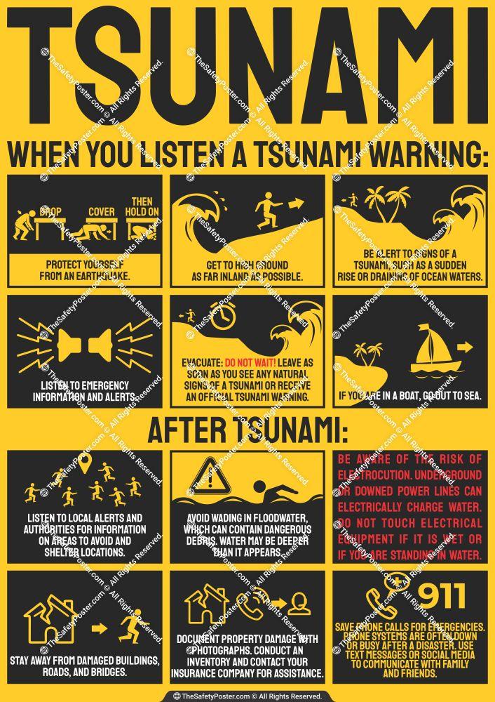 tsunami earthquake safety tips tsunami earthquake safety