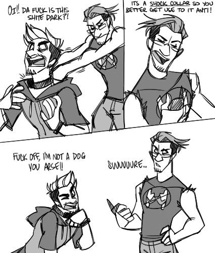 Lol by jack screaming everyone now thinks he's a dog  ( still wearing the shock collar to this day )