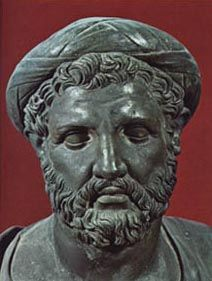 """Pythagoras : (6th Century BCE)  """"Cosmos is ordered according to hidden mathematical relations"""""""