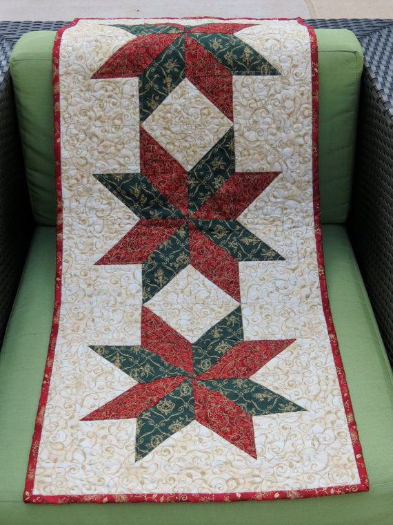 Quilted Christmas Star Table Runner