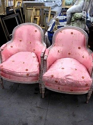pink french chairs