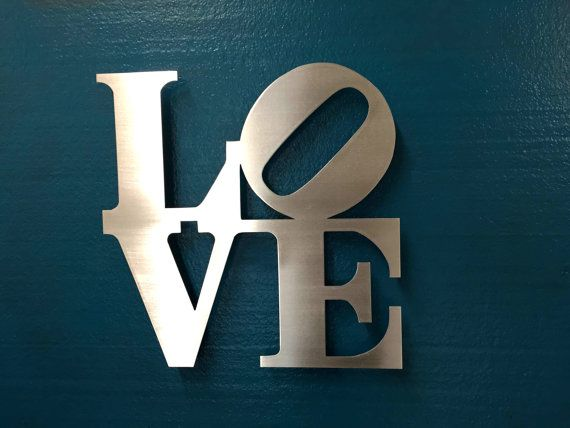 Love Metal Wall Art - Love Sign - Wall Art - Metal Art ...