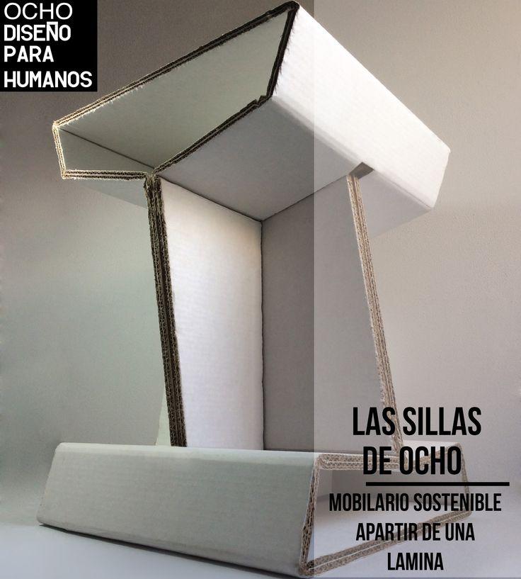 Mobiliario en carton  OCHO Diseño para humanos