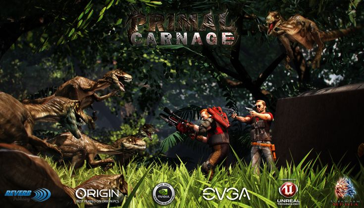 Coming from publisher Reverb Software and developer Lukewarm media is a trailer for the upcoming First-Person Shooter, Primal Carnage. The game is being sold as a Man vs. Pre-Historic Beast online deathmatch, which I imagine will be some kind of player versus dinosaur battle arena type of thing.