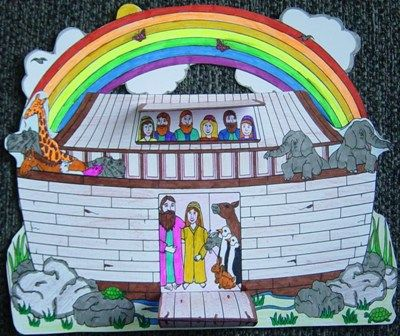 Noah's Ark craft project. This craft project will help you prepare your Sunday school lesson on Genesis 6:1 - 9:19 on the Bible story of Noah's Ark.