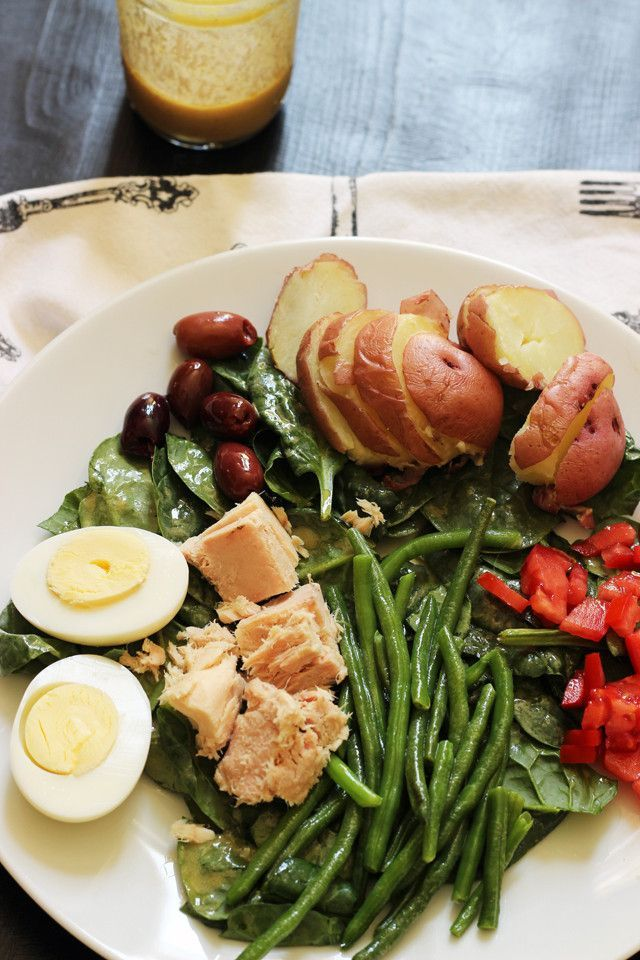 This Salade Nicoise Recipe is super easy and economical. It's full of healthy, hearty ingredients, making salad buff and strong. .;)   http://goodcheapeats.com/2015/08/salade-nicoise-recipe/