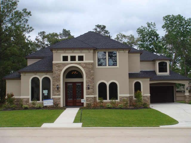 stucco and stone front colors - Stucco Exterior Paint Color Schemes