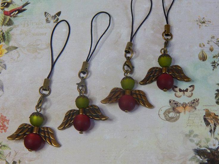 Maschenmarkierer - SeptemberWein Maschenmarkierer Engel Polarisperlen - ein Designerstück von Saphiriarose bei DaWanda