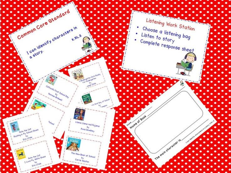 A Teacher's Touch: Literacy Work Stations Listening Feeebies