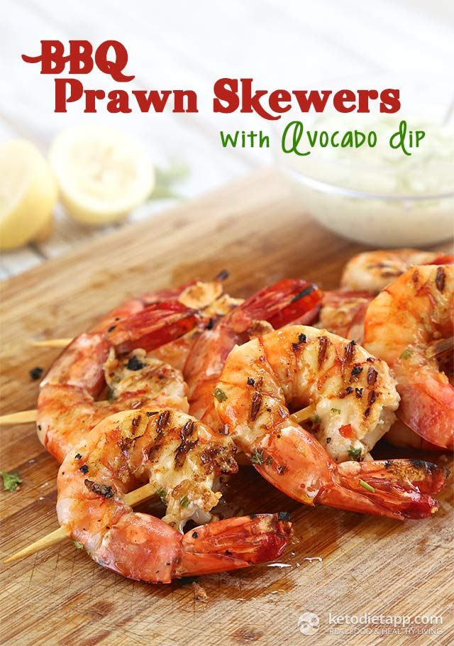King prawns marinated in garlic, chili, lemon & fresh herbs - grilled to perfection and served with creamy avocado dip!