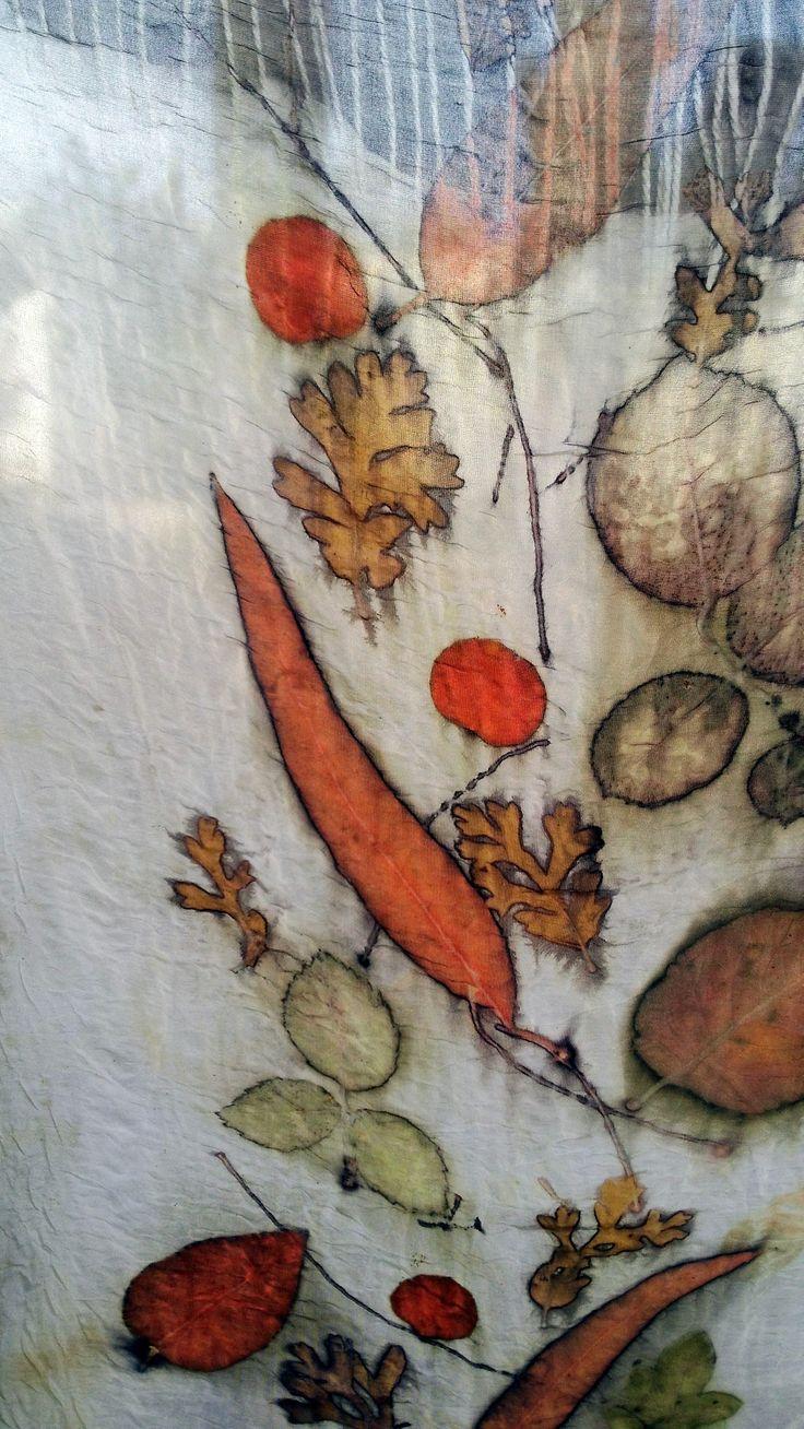Cherie Livni -Eco Print on silk fabric