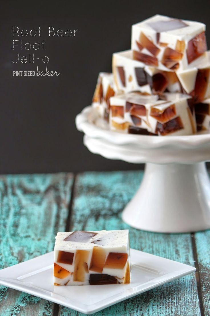 Pint Sized Baker: Root Beer Float Jello I bet this would be delicious with cola and chocolate ice cream.