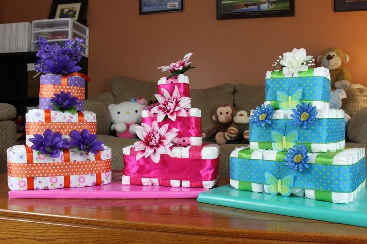 My Quick Square Diaper Cake Video Tutorial. I hope you like it! 108 Newborn Size Diapers 1 Roll 2-1/2 Inch Ribbon 1 Roll 1-1/2 Inch Ribbon 1 Small Wooden Dow...