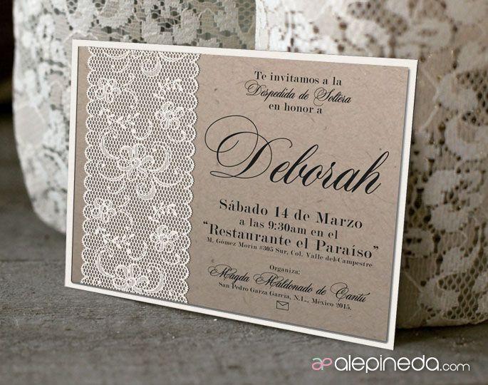 Vintage bridal shower invitation invitaci n vintage for Classic bridal shower invitations